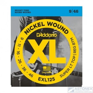 D'addario EXL125 -XL Nickel Wound- 9-46