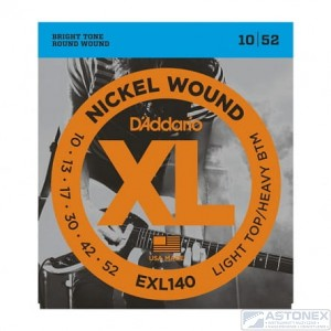 D'addario EXL140 - XL Nickel Wound- 10-52