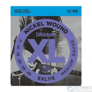 D'addario EXL115 - XL Nickel Wound - 11-49